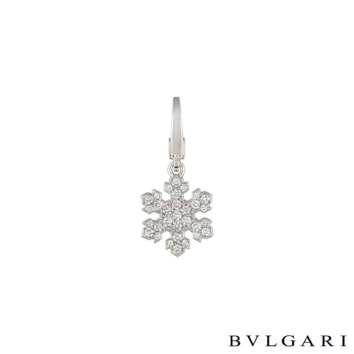 Bvlgari White Gold Diamond Fiocco De Neve Pendant